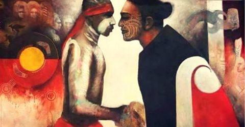 Maori & Aboriginal cultures unite for ANZAC Day Haka and Corroboree
